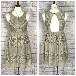 💥Free People green lace sleeveless babydoll dress